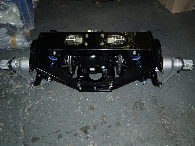 Axle removed from car